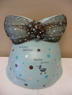 pregnancy plaster cast | Belly casts are often made during the 7th or 8th month of pregnancy ...