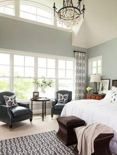 Home Decor Transitional Bedroom. ベッドルームのインテリアコーディネイト実例