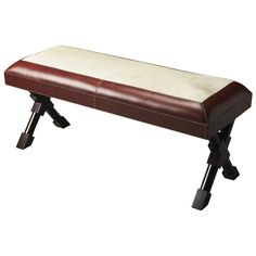 Butler Specialty Butler Loft Leather & Hair-On-Hide Taos Bench
