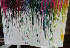 DIY Projects for Teens | DIY Teens: Melted Crayon Canvas Project - Peg It Board