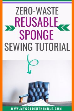 How to make the perfect reusable sponge for your kitchen. Free pattern and tutorial. #sewingcrafts #fabriccrafts #kitchensewingprojects