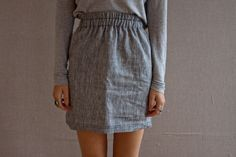 Love the simplicity of this little skirt.  Hello summer staple.