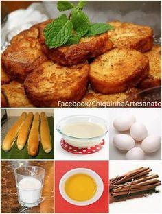 RABANADA NO FORNO, sem fritura, mais macia e suculenta.   Receita: https://www.facebook.com/pages/Chiquinha-Artesanato/345067182280566
