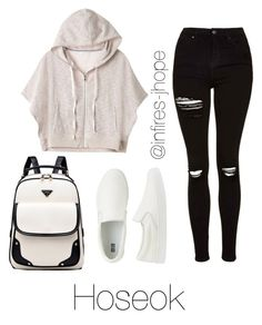 """Studying with Hoseok"" by infires-jhope ❤ liked on Polyvore featuring Topshop, Victoria's Secret and Uniqlo"