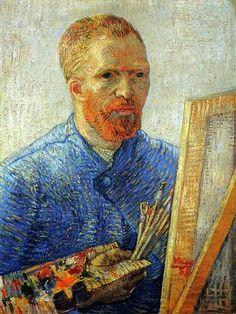 Self Portrait by Vincent van Gogh (1853-1890) #VincentvanGogh