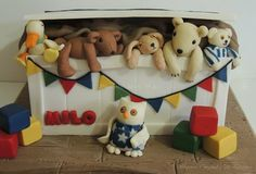 Jane Hissey Toy Chest  by ShereensCakes - http://cakesdecor.com/cakes/26413#