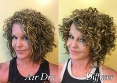 Also depends on the hair product applied - Lange Haare Curly Hair With Bangs, Curly Hair Tips, Wavy Hair, Short Hair Cuts, Curly Hair Styles, Perms For Short Hair, 3b Hair, Haircuts For Curly Hair, Permed Hairstyles