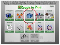 Ready to Print has been updated with a new Touch and Drag activity added, sound and graphic upgrades. Still 9.99 it is well worth the cost. Now available for iOS (iPad), Android and Kindle. Check it out! Carol