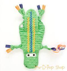 Florida Gator Baby Blanket Mini Alligator Lovey Toy Pacifier