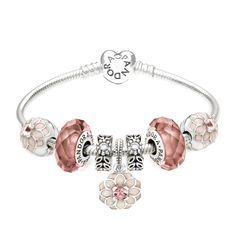 Pandora Forest of Dahlias Complete Gift Bracelet | John Greed Jewellery