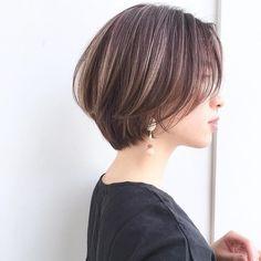 Might try this cut. Asian Short Hair, Short Hairstyles For Thick Hair, Short Brown Hair, Short Hair Cuts, Hairstyles Haircuts, Summer Hairstyles, Straight Hair Highlights, Shot Hair Styles, Gorgeous Hair