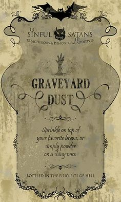 graveyard dust DIY Halloween