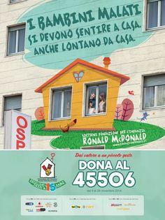 "Fondazione per l'Infanzia Ronald McDonald Italia: campagna ""case lontane da casa"""