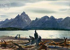 Mountain Lake, c. 1930's, art by Emil Kosa Jr. – California Watercolor