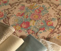Windsor Floral Fabric Collection  Linen, Velvet and a delicate cheetah... Love it!