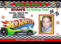 Macy Cakes Hot Wheels Cake RecipesCakesCupcakes Pinterest - Homemade hot wheels birthday invitations