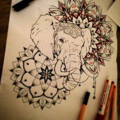mandala elefante - Buscar con Google