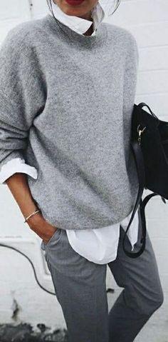 Fashion Style Inspiration Fall Outfit Idea Different Shades #estaesmimodacom #ropa#modelitos#combinar#moda#joven