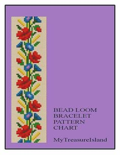 Bead Loom Floral Border 3 Bracelet Pattern par MyTreasureIsland