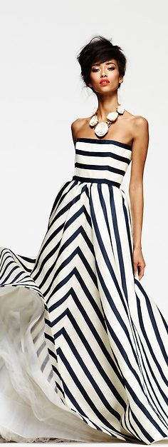 Oscar de la Renta striped gown