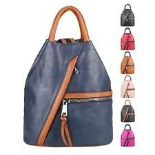 8f2be798bbb9 Detalles de Señora mochila bolso bandolera óptica piel Daypack backpack  mochila City- ver título original