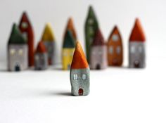 tiny, colorful houses from Rodica in France