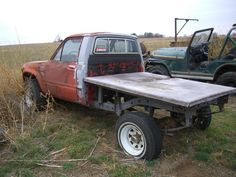 toyota flatbed  | TOYOTA 4X4 FLATBED PU and JEEP CJ5 $1500 for the pair!!!!! Toyota 4x4, Flat Bed, Jeep, Monster Trucks, Pairs, Jeeps