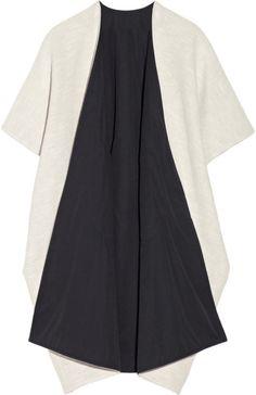 Zero + Maria Cornejo Gaban Reversible Tweed Kimono-style Coat in White
