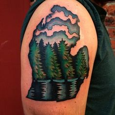 Michigan | 50 Awesome State Tattoos That Will Fill You With Hometown Pride