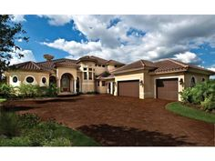The dream home begins here...    I love mediterranean style homes.