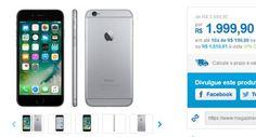 """iPhone 6 Apple 16GB Cinza Espacial Tela 47"""" Retina 4G Câmera 8MP << R$ 185991 >>"""