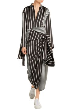 Shop on-sale Joseph Lyra striped satin shirt. Browse other discount designer Tops & more on The Most Fashionable Fashion Outlet, THE OUTNET.COM