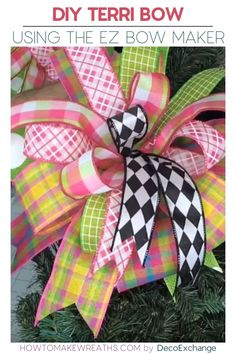 Love learning how to make different types of bows? The Terri Bow tutorial is quick and easy and takes less than 10 minutes to create a beautiful bow! Diy Bow, Diy Ribbon, Ribbon Crafts, Ribbon Bows, Ribbon Hair, Ribbons, Ribbon Flower, Fabric Flowers, Wreath Crafts