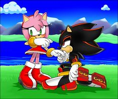I took me a lot but I managed to finish! it took me so one week to draw a posture ! It was bad for delay I changed a little my drawing style hopefully you enjoyed Appeared! Hedgehog Art, Shadow The Hedgehog, Sonic The Hedgehog, Shadamy Comics, Shadow And Amy, Romantic Love Stories, Sonic Heroes, Legends And Myths, Sonic Fan Art
