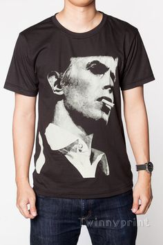 David Bowie T Shirts Glam Rock Artist Smoking Men by TwinnyPrint
