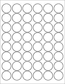 2 Inch Round Label Template 1 Circle