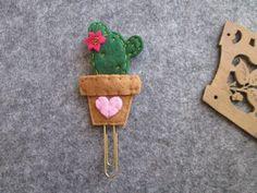 Segnalibro con Cactus Graffetta Planner accessories Clip di