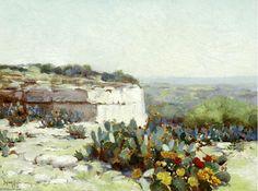 Колючая груша в цвету  Robert Julian Onderdonk (1882-1922, United States)