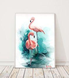 Pink Flamingos aquarelle originale Thème de couleur : rose et vert émeraude Résumé historique Art aquarelle oiseau Lun dun Art de type aquarelle Echelle : 8.25x11.5 (21x29.5 cm) Médium : peinture aquarelle sur papier de presse froide couleur eau 140 lb (300g) de marque top Signé recto et verso Datées au verso. Pas encadré. Toutes les peintures sont cadeau emballé dans un cellophane insert et le support en carton afin de mieux protéger, expédiés par courrier enregistré avec numéro de suivi...