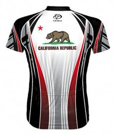 Primal Wear California Republic Flag Cycling Jersey Men s Short Sleeve with  DeFeet Socks 77c8670d6
