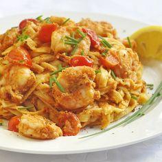 Sun-dried Tomato Almond Pesto Linguine - add grilled shrimp, chicken, sauteed scallops or pork medallions - RockRecipes.com