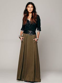 Free People We The Free Urban Cowgirl Henley with FP Beach Mad Cool Skirt at Free People Clothing Boutique