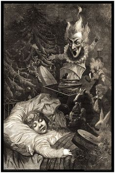 Hey, I found this really awesome Etsy listing at https://www.etsy.com/listing/118513446/scary-antique-christmas-print-jules