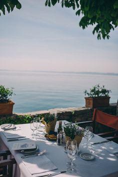 Lunch at Punte S. Viggilio, Isola del Garda, Italy