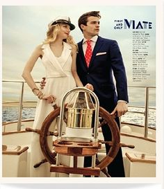 Loving this nautical themed editorial in Washingtonian Bride and Groom  #theia #jumpsuit