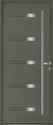 Porte Acier, Porte Entree, Belu0027m, Contemporaine, Poignee Rosace Couleur  Argent, Sans Vitrage, Design, Moderne, Pika, Epaisseur 48mm | Pinterest |  Porte ...