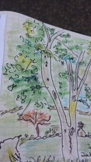 time (outside) with family: the magic of silence & watercolour pencils ~