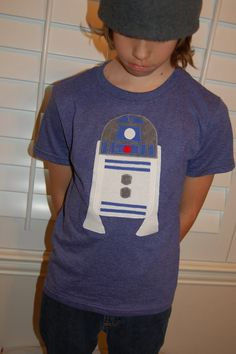 R2D2 shirt for boys or girls by ChristinaKayeDesigns on Etsy, $20.00
