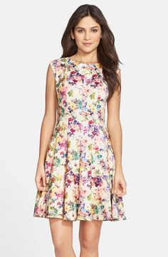Pin for Later: What to Wear to Every Wedding Event You'll Attend This Season  Gabby Skye Floral Print Scuba Fit & Flare Dress ($98)