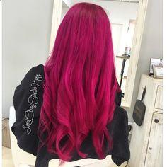 Dark Pink Magenta Hair Colour Hairstyle Style Larackay